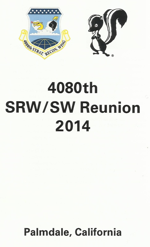 Front page of 2014 4080th SRW/SW Reunion Program