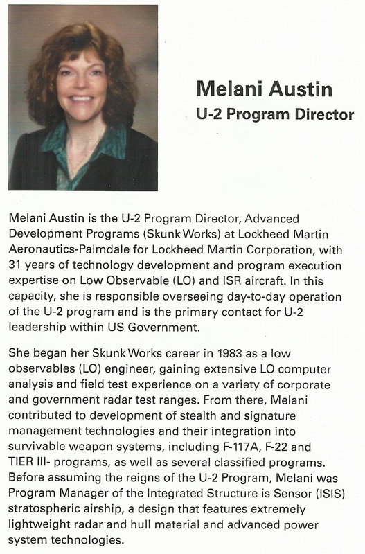 Melani Austin, U-2 Program Director