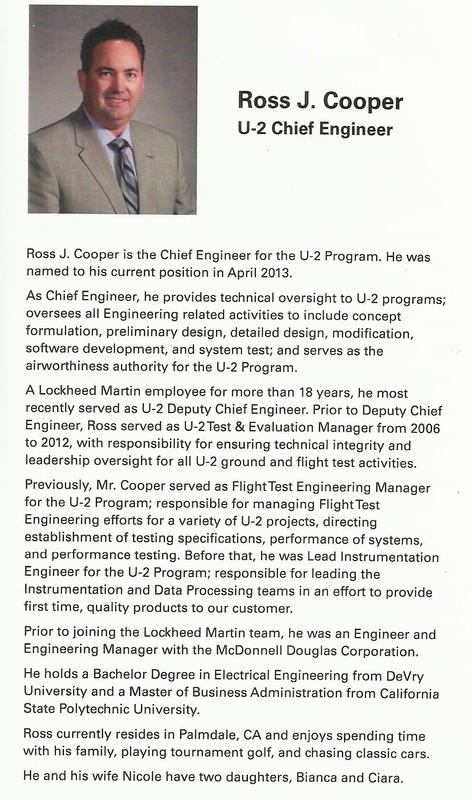Ross J. Cooper, U-2 Chief Engineer