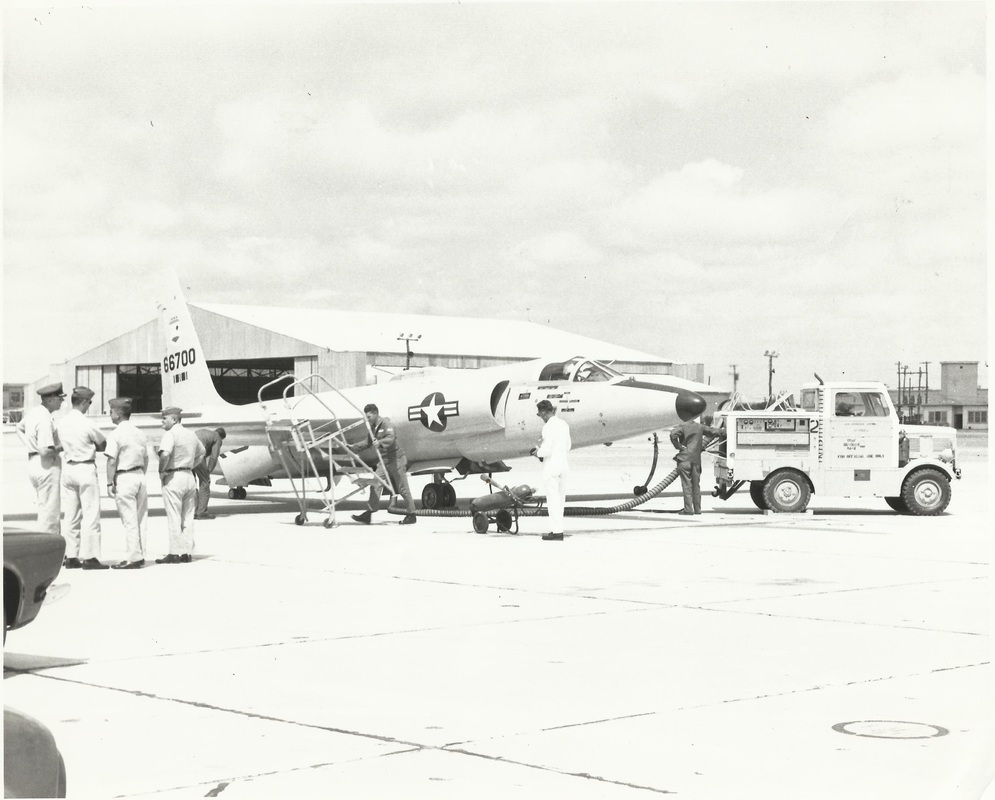 U-2A 56-6700 on the ramp at Laughlin Air Force Base, Texas, Friday, June 12, 1963, preparing to depart for the 4028th's new home at Davis-Monthan Air Force Base in Arizona.