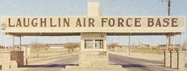 Old photo of Laughlin Air Force Base main gate, Del Rio, Texas